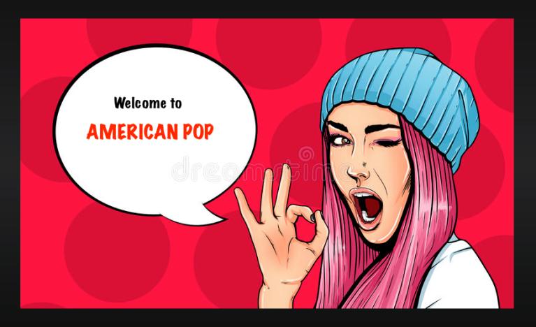 American Pop Alt Cover Girl Cartoon
